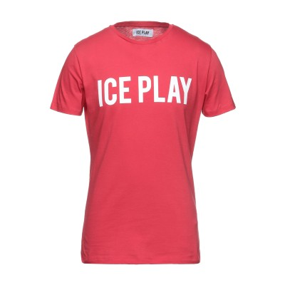 ICE PLAY T シャツ レッド L コットン 100% T シャツ
