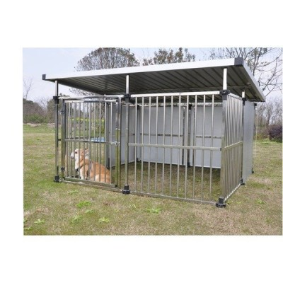 ドッグハウス DFS-M2 (1坪タイプ屋外用犬小屋) 大型犬 犬小屋 ステンレス製 組立品〔代引不可〕