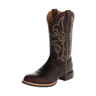 アリアト ブーツ Ariat レディース Hybrid Rancher Cowgirl ブーツ Wide スクエア Toe Brown Oiled Rowdy