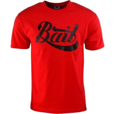 BAIT メンズ Tシャツ ロゴTシャツ トップス Script Logo Tee red/black