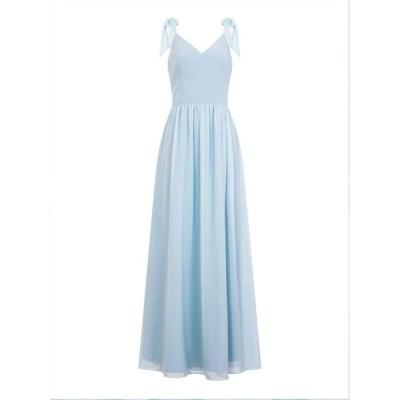 チチ Chi Chi レディース パーティードレス マキシ丈 ワンピース・ドレス Bow Shoulder Maxi Dress Blue