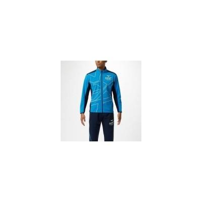 MIZUNO ミズノ N-XTウォームアップジャケット ユニセックス スポーツウェア ブリリアントブルー×ドレスネイビー 32JC9210 24