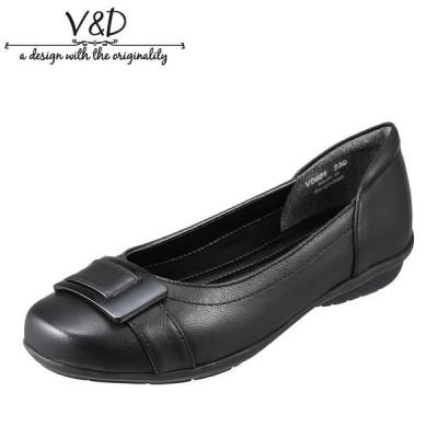 ブイ・アンド・ディー V&D VD601 レディース | バレエシューズ パンプス | 小さいサイズ対応 大きいサイズ対応 | ブラック