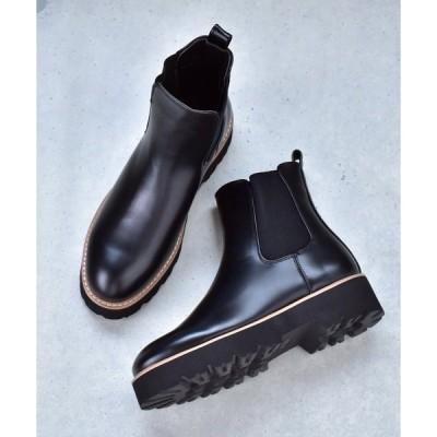 ブーツ 軽量 厚底 タンクソール サイドゴア ブーツ SVEC /シュベック