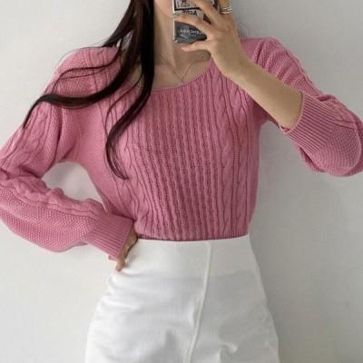 GIRLS RULE レディース ニット/セーター Jouju Square Neck Knitwear