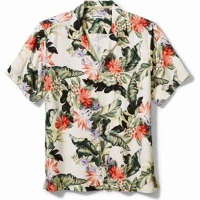 トミー バハマ TOMMY BAHAMA メンズ 半袖シャツ トップス Garden of Hope and Courage Short Sleeve Silk Button-Up Shirt Coconut