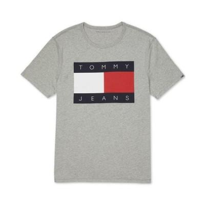 トミー ヒルフィガー Tシャツ トップス メンズ Tommy Hilfiger Adaptive Men's Sensory Tagless Logo T-Shirt Grey Heather