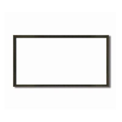 〔長方形額〕木製額 縦横兼用額 前面アクリル仕様 黒茶色長方形額(500×250mm)コクタン色