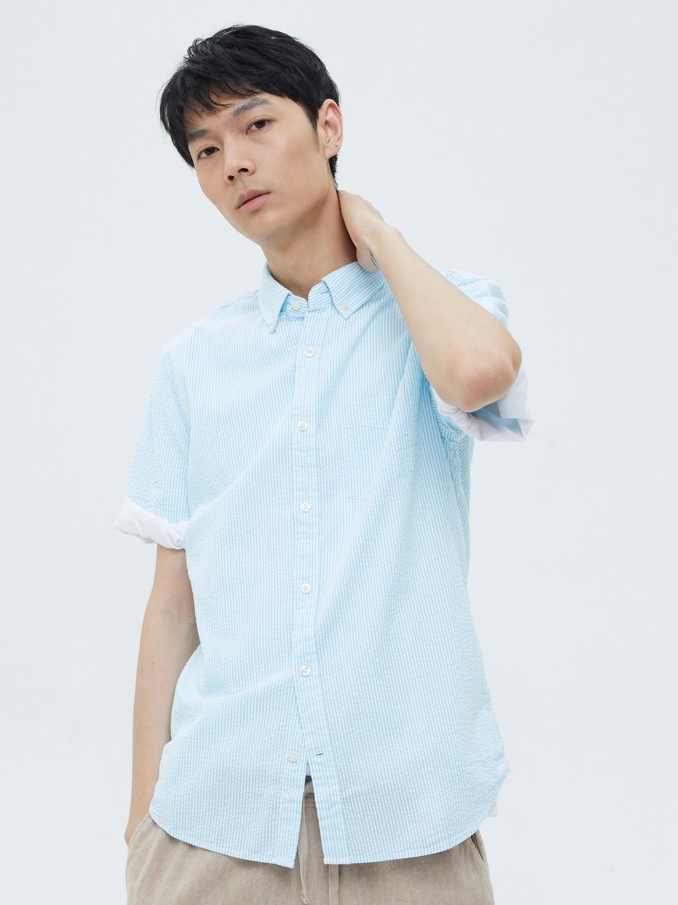 男裝 通勤純棉輕薄短袖襯衫