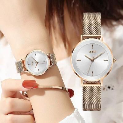 Dom 新しい 女性 の 高級 腕時計 シンプルな クォーツ 女性 防水 腕時計 女性 ファッション カジュアル 腕時計 時計リロイ muj