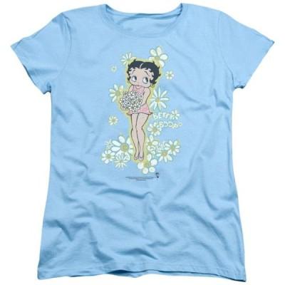 レディース 衣類 トップス Betty Boop - Flowers - Women's Short Sleeve Shirt - X-Large Tシャツ