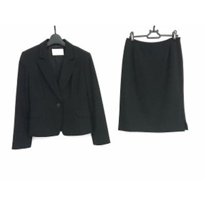 ハロッズ HARRODS スカートスーツ サイズ3 L レディース 美品 - 黒 ウール/ポリウレタン【中古】20210113
