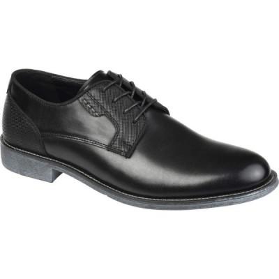 バンス Vance Co. メンズ 革靴・ビジネスシューズ ダービーシューズ シューズ・靴 Alston Textured Plain Toe Derby Black Faux Leather