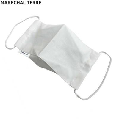MARECHAL TERRE(マルシャルテル) 洗えるマスク 立体布マスク メンズサイズ ファッションマスク 大人用 ホワイト 日本製 フリーサイズ