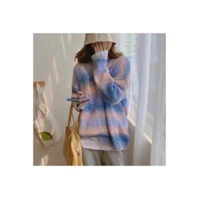 【送料無料】年 秋と冬 虹のグラデーション ソフト ワクシー セーターの女性 ルース | 346770_A63883-0637029