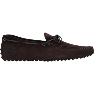 トッズ TOD'S for FERRARI メンズ ローファー シューズ・靴 loafers Dark brown