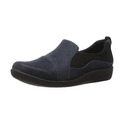 Clarks Women's CloudSteppers Sillian Paz Slip-On Loafer, Navy Synthetic Nubuck, 9.5 W US【並行輸入品】