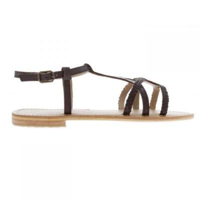 ファイヤートラップ Firetrap レディース サンダル・ミュール シューズ・靴 Blackseal Iris Braid Sandals Choc Leather