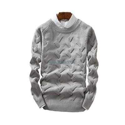 セーター メンズ ニット メンズ クルーネック カジュアル セーター ニット 長袖 防寒 秋冬