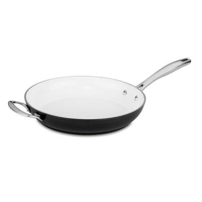 クイジナート セラミックコート フライパン 30cm IH対応 PFOAフリー PTFEフリー Cuisinart 59I22-30HBK Open