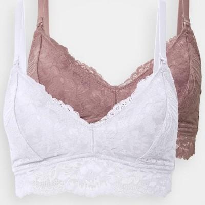 アンナフィールド レディース ファッション 2 PACK - Triangle bra - white/pink