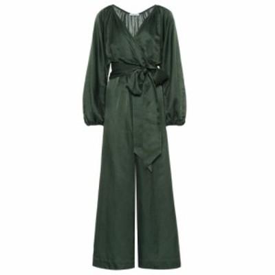 カリタ Kalita レディース オールインワン ジャンプスーツ ワンピース・ドレス Venus cotton and silk jumpsuit Evening Emerald