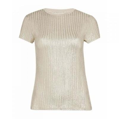 テッドベーカー Ted Baker レディース Tシャツ トップス Catrino Metallic Fitted T-Shirt GOLD-COL