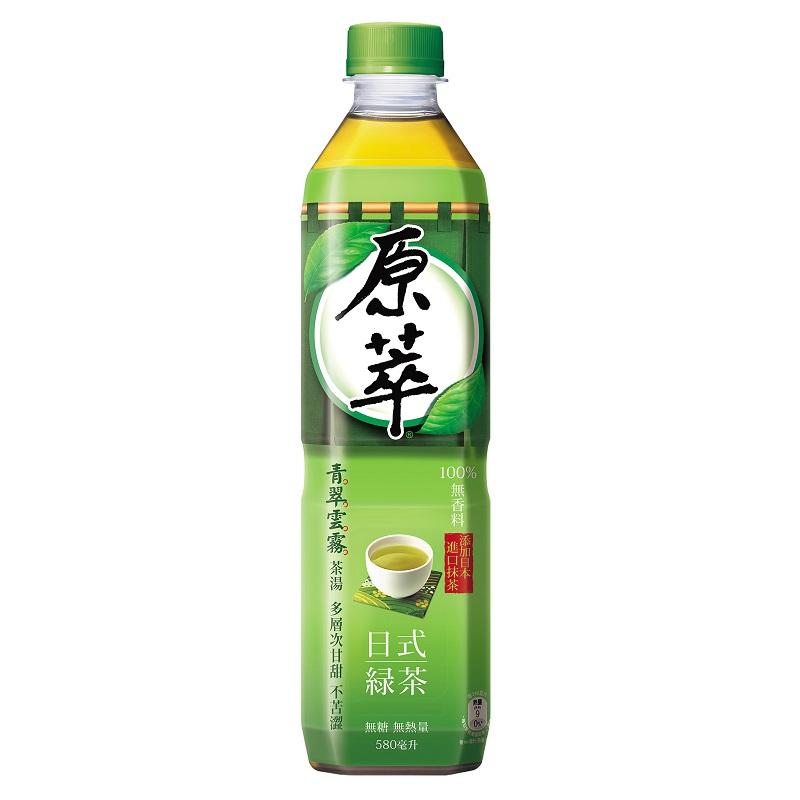 原萃日式綠茶580ml