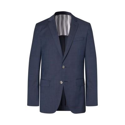 BOSS HUGO BOSS テーラードジャケット ブルーグレー 48 バージンウール 100% テーラードジャケット