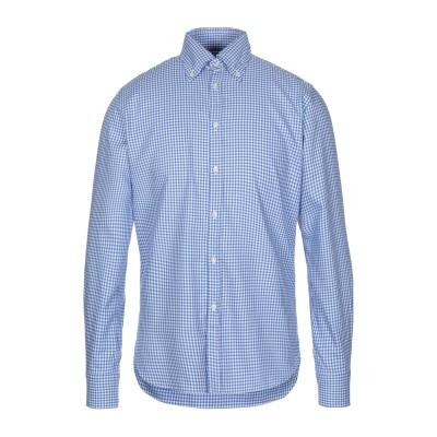 ギローバー GUY ROVER シャツ ブルー 40 コットン 100% シャツ