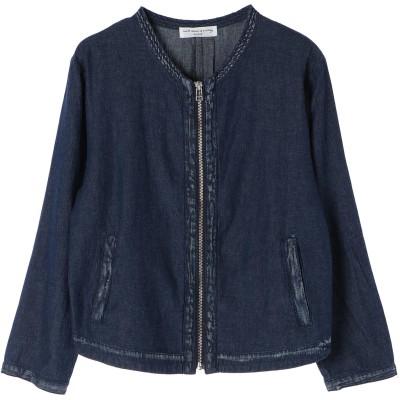 SLF ★綿麻デニムノーカラージャケット