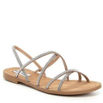 スティーブ マデン レディース サンダル シューズ Rita Rhinestone Embellished Strappy Sandals