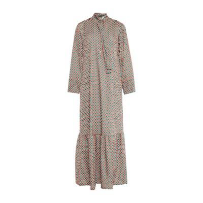 DODICI22 ロングワンピース&ドレス グリーン 40 ポリエステル 93% / ポリウレタン 7% ロングワンピース&ドレス