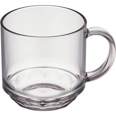 マグカップ コップ コーヒーカップ スモーク グレー 340ml 食洗機対応 耐熱100度 割れにくい アウトドア用 トライタン素材 日本製 石川樹脂