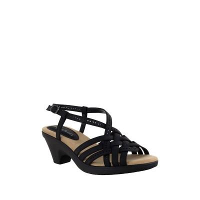 イージーストリート レディース サンダル シューズ Jackson Strappy Sandal - Multiple Widths Available BLACK