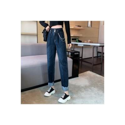【送料無料】女性のジーンズ 年 秋冬 チェーン ツイルボタン ハイウエスト ハーラン | 364331_A64095-4281798