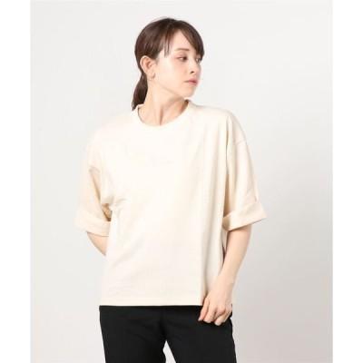 tシャツ Tシャツ ロールアップショートワイドTシャツ
