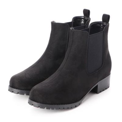 マフモフ Mafmof Realta(レアルタ) BLACKサイドゴアショートブーツ (ブラック・スエード)