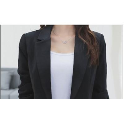 ブラックテーラージャケット/羽織/肩掛け/カジュアル/シック/シンプル/