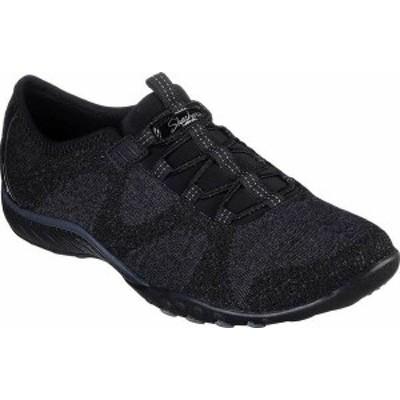スケッチャーズ レディース スニーカー シューズ Women's Skechers Relaxed Fit Breathe-Easy Opportuknity Sneaker Black