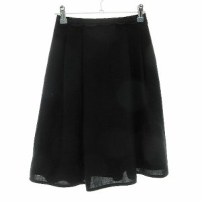 【中古】カールパークレーン KarL Park Lane スカート フレア ひざ丈 総柄 5 黒 ブラック /CK レディース