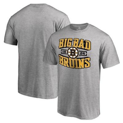 ボストン・ブルーインズ Fanatics Branded Big & Tall Hometown Collection Big Bad Bruins T-シャツ - Ash