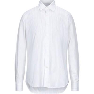 トラサルディ TRUSSARDI COLLECTION メンズ シャツ トップス Striped Shirt White
