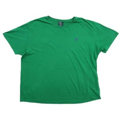 【25%off】古着 ポロラルフローレン ワンポイントロゴ Tシャツ グリーン サイズ表記:XL