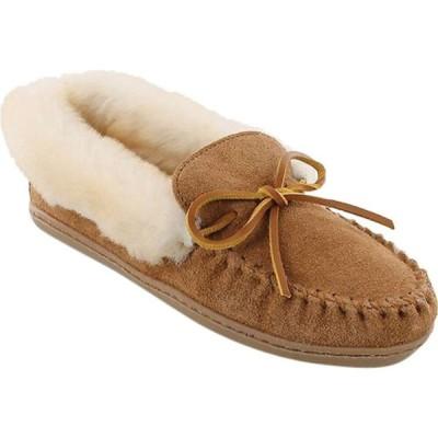 ミネトンカ Minnetonka レディース スリッポン・フラット シューズ・靴 Alpine Sheepskin Moc Tan