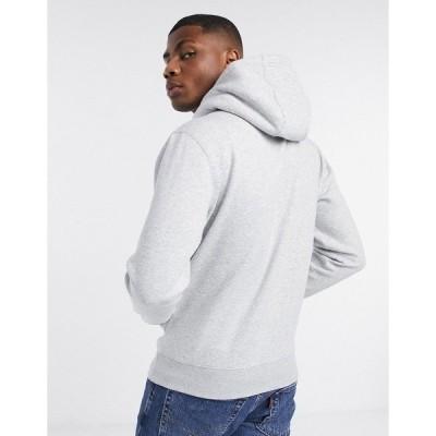 トミーヒルフィガー メンズ パーカー・スウェットシャツ アウター Tommy Jeans logo hoodie in gray Light heather gray