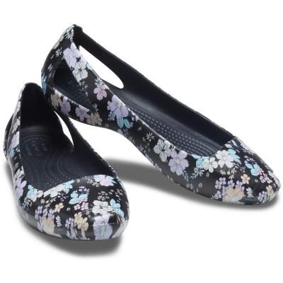 [クロックス公式] フラットシューズ クロックス シエンナ プリンテッド フラット ウィメン レディース、ウィメンズ、女性用 ブラック/黒 21cm,22cm,23cm,24cm,25cm,26cm Women's Crocs Sienna Printed Flat