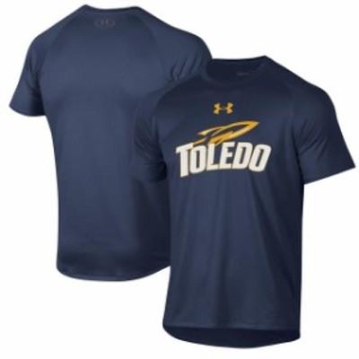 Under Armour アンダー アーマー スポーツ用品  Under Armour Toledo Rockets Navy School Logo Tech 2.0 Performance T-Shirt