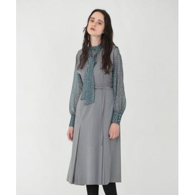 (LOVELESS WOMEN/ラブレス)グレー Vネック ジャンパースカート/レディース グレー