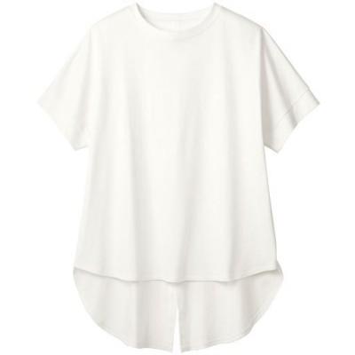 バックスリットプルオーバー(綿100%・洗濯機OK)/オフホワイト/L